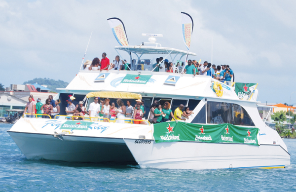 Partying St. Lucia style (Photo: Anthony De Beauville)