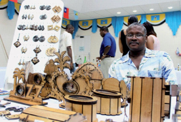 Image of Joshua George as he participated in this month's trade exhibition held at Baywalk Shopping Mall.