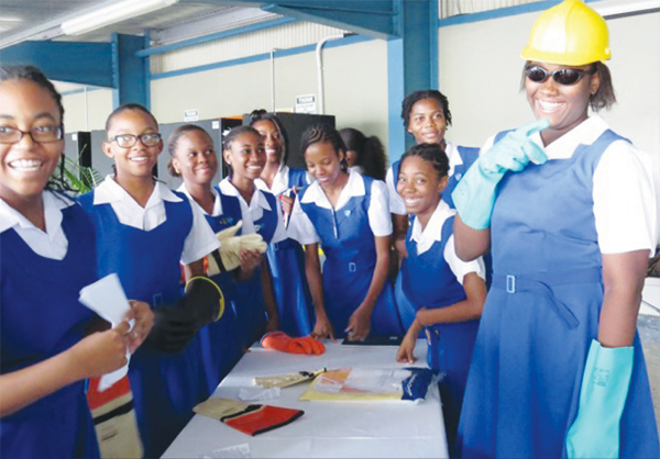 Photo of Students from St. Joseph's Convent during the three-day LUCELEC Open house.