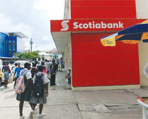 Image of Scotiabank's main branch in Castries.