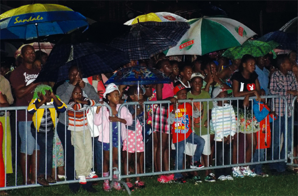 A section of the large crowd that turned up at the Derek Walcott Square.