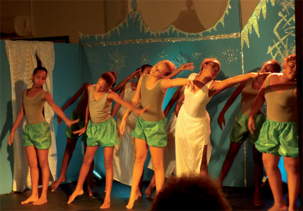 Some of the young dancers in Motion Studios