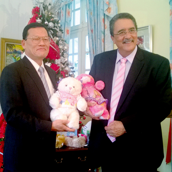 Ambassador Chang and Prime Minister Anthony