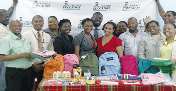 Some of the recipients organisations with their supplies.