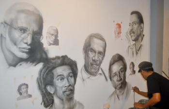 Masterpiece mural by John Steele