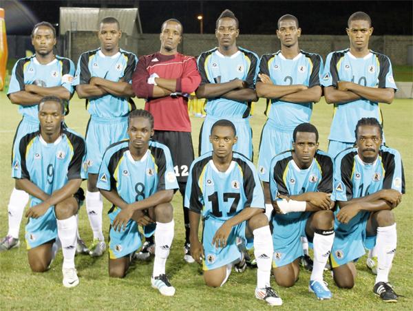 St. Lucia senior national men's football team. (Photo Anthony De Beauville)