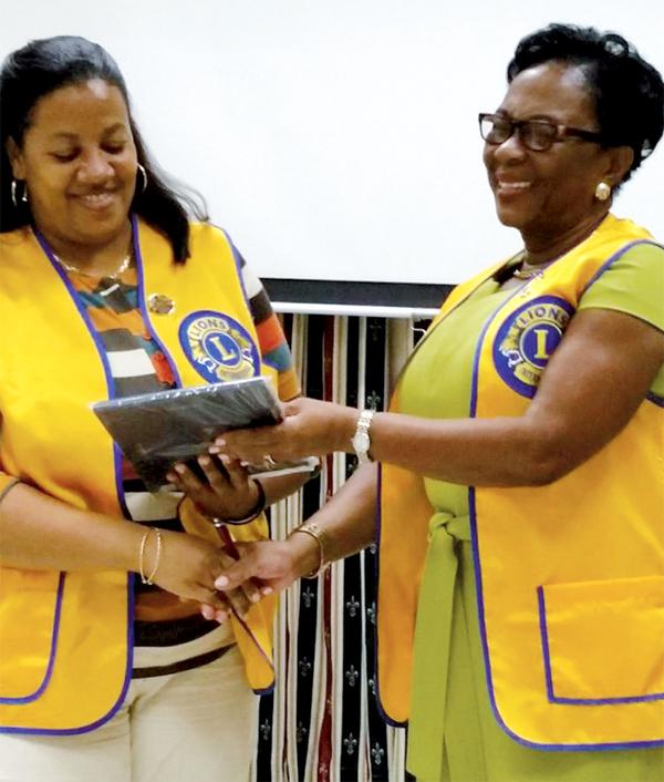 Castries lions receiving awards