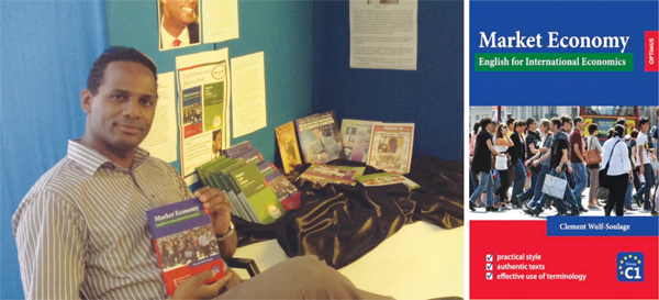 Clement Wulf-Soulage promotes his books at the fair