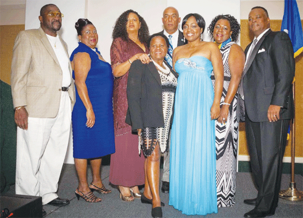 Ambasador Smmer (third from left) with St. Lucians in Florida.