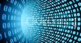 Tech binary illustration