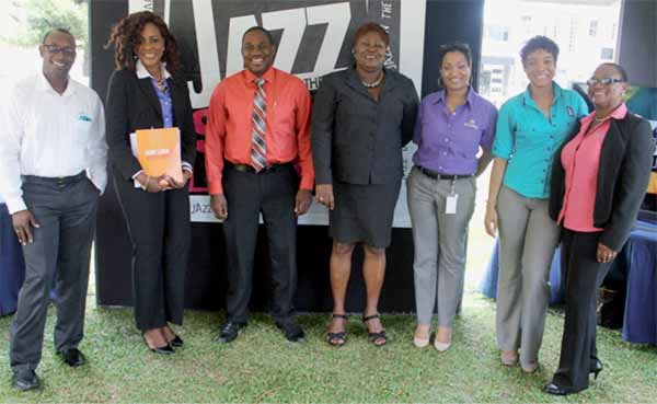 Organizers and sponsors of this year's Jazz on the Square. [Photo: Stan Bishop]