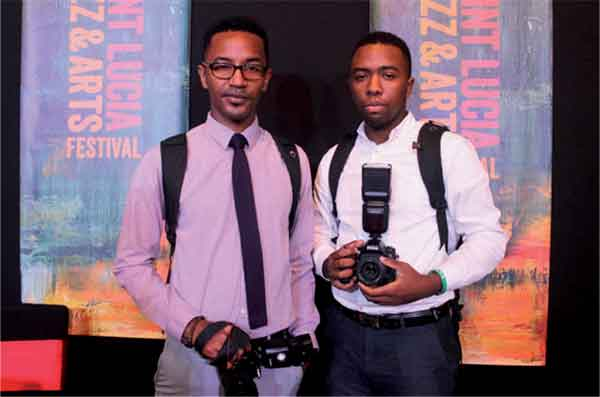 James Adjodha (left) and Jesse Evans (right). [Photo: Stan Bishop]