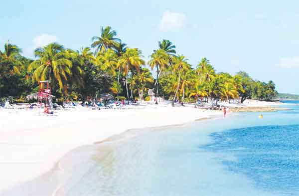 Cuba has several beautiful beaches.