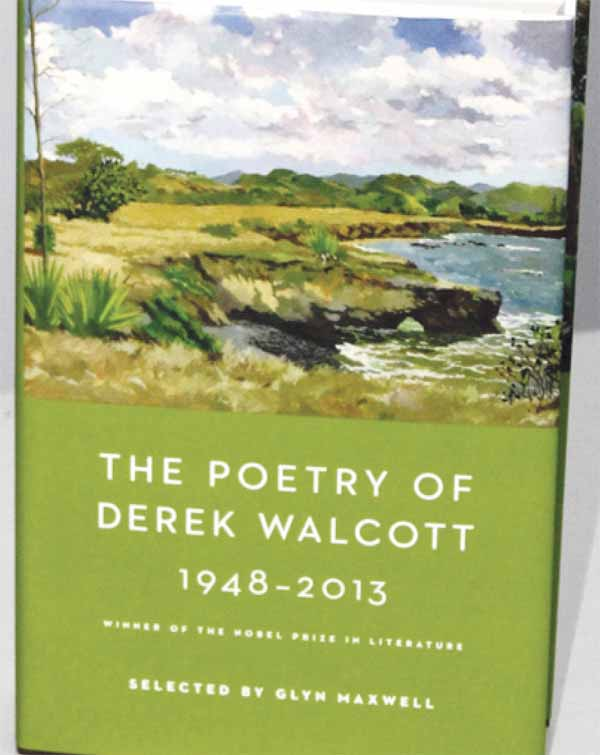 Front cover of Walcott's latest poetry collection. [Photo: Stan Bishop]