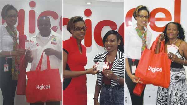 Digicel April Text To Win Winners.