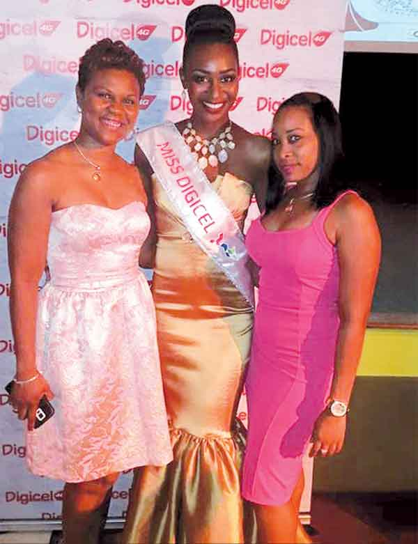 Miss Digicel with Country Manager James - Alexander and Fiona Smith