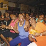 Image: Some fans really do add flavour to a calypso show