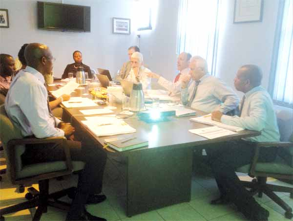 Image: The consultants meeting with ECTEL staff
