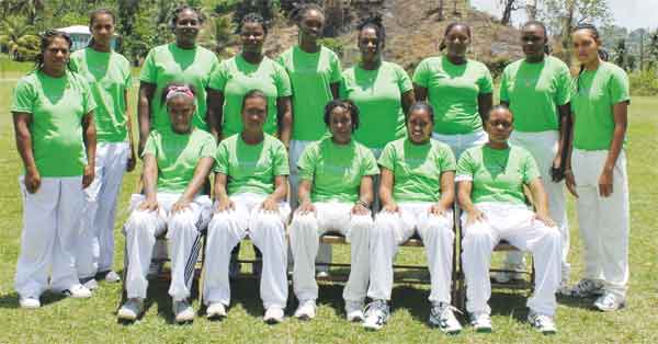Acynta Auguste 50 Over Women's champions Choiseul. [Photo: Anthony De Beauville]