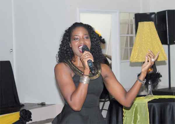 The diva, Claudia Edward, was in fine form