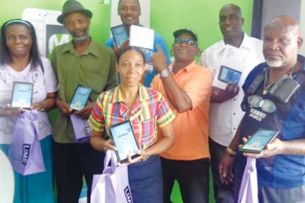 Image: LIME customers who won prizes