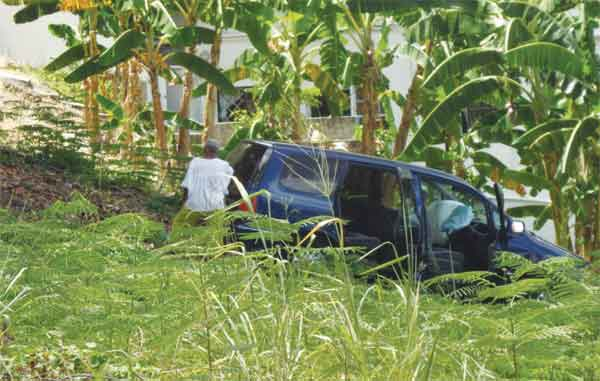 The vehicle in the property of Rambally's Funeral Parlour.