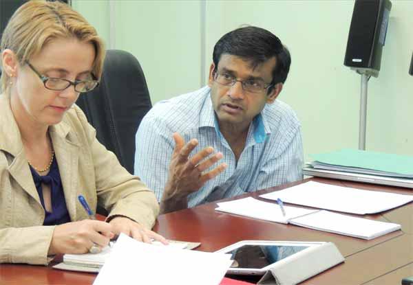Image: Gender Specialist Caroline Allen and lead Consultant Ramesh Chaitoo