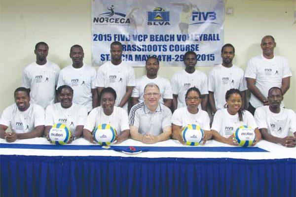 Image: Participants at the Grassroots Coaches Course (PHOTO: SLVF)
