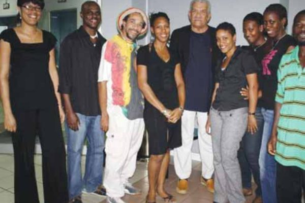 Image of Some members of the Writers' Forum with Laureate Derek Walcott.