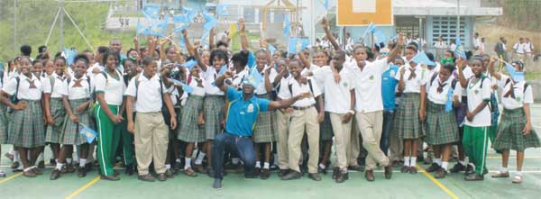 Image: Babonneau Secondary School students going Zouks all the way. (Photo: Anthony De Beauville)