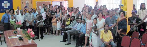 Image: Some members of the Lutheran community in St. Lucia