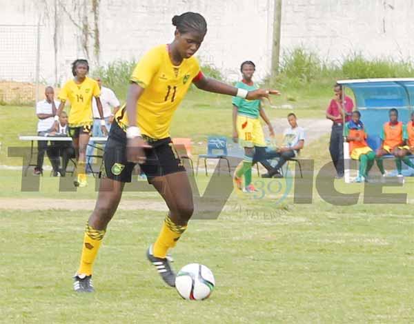 Jamaica captain Khadija Shaw scored a hat-trick against Grenada (Photo: Anthony De Beauville)