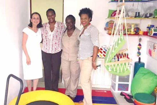 Left to right: Karolin Troubetzkoy, German Honorary Consul, Darla Robinson Ernest, President CPA, Ramona David, School Administrator and Diane Leonce, Vice President CPA