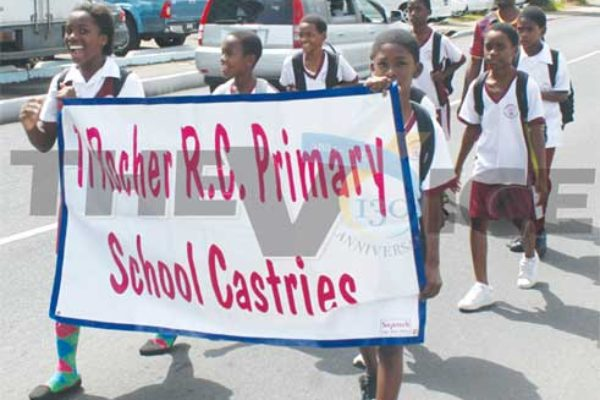 Image: Ti Rocher R.C. Primary well represented. (Photo: Anthony De Beauville)