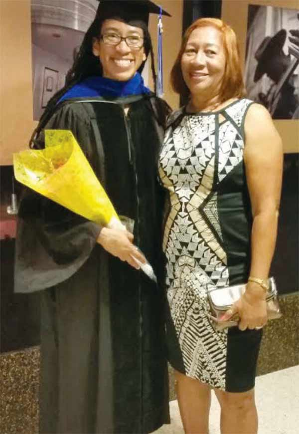 Dr. Constantine with her mother Olimthea Constantine.