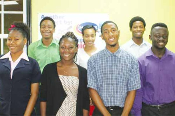 The Harris Paints interns in St. Lucia.