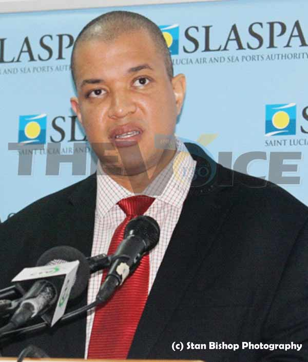 GENERAL Manager of the Saint Lucia Air and Sea Ports Authority (SLASPA), Keigan Cox
