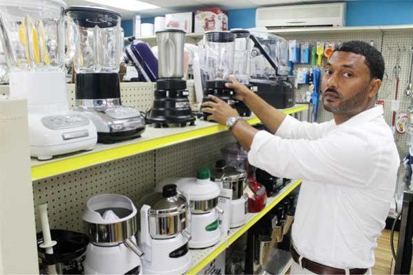 Rick Barnard in his Corinth store. [Photo: Stan Bishop]