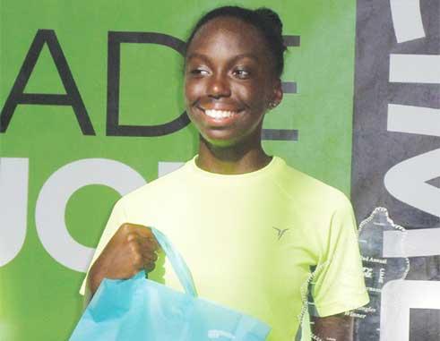 Girls under-14s singles champion Meggan William. [Photo: NTC]