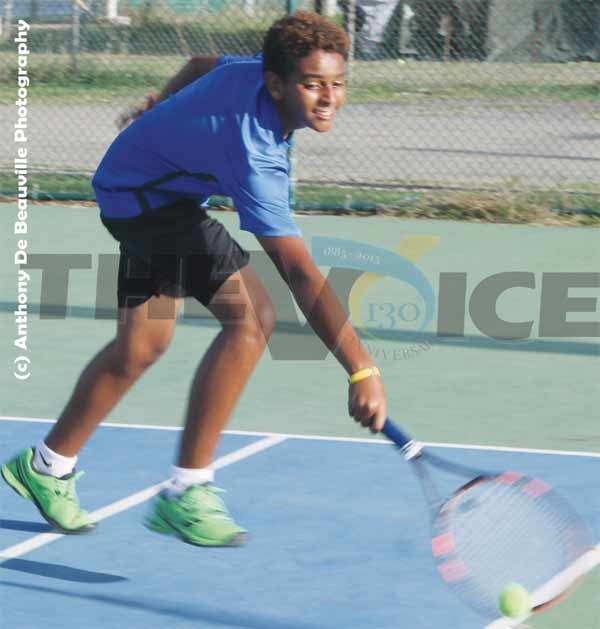 Boys under 14 St. Lucia Nathan Francis. (Photo: Anthony De Beauville)