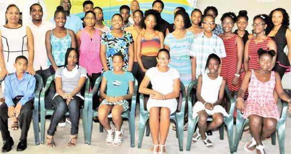 The 2015 recipients of the LUCELEC Scholarship Programme.