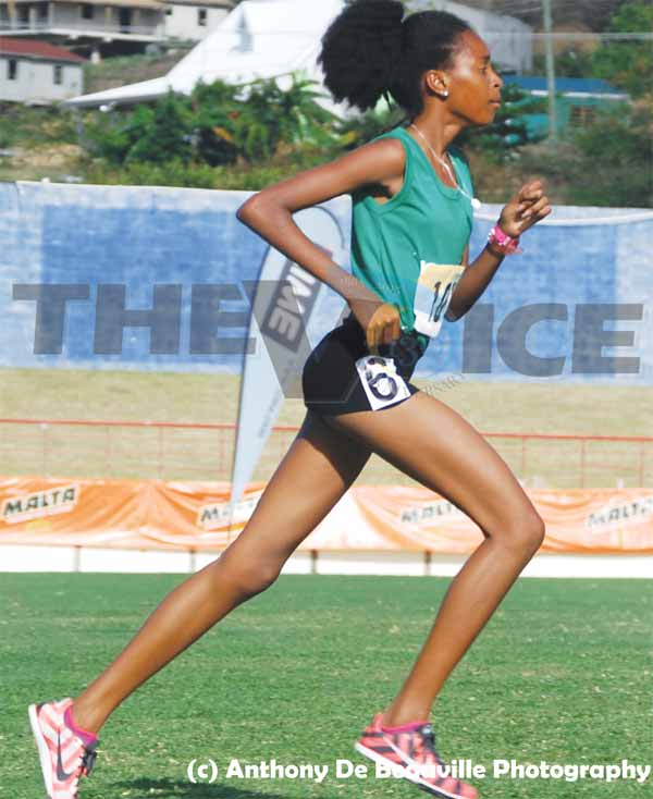 Kamillah Monroque captured gold in the girls 1500. (Photo: Anthony De Beauville)