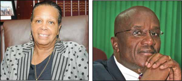 The late Justice Suzie d'Auvergne and attorney Nicholas John served as Chairperson and deputy respectively of the Constitution Reform Commission.