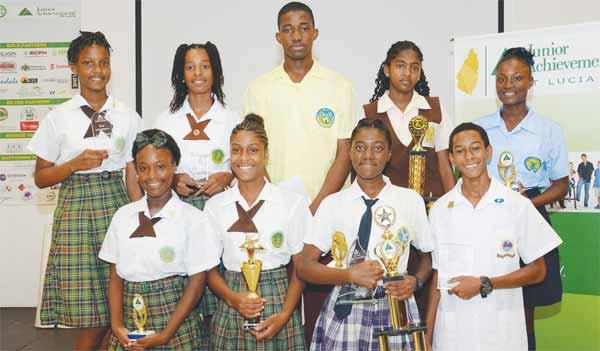The Junior Achievement Awardees.