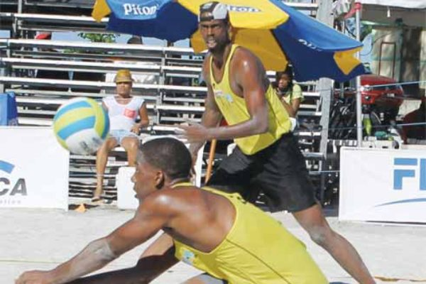 St. Lucia pair of Gillan Octave and Dane Williams in action. [Photo: Anthony De Beauville]