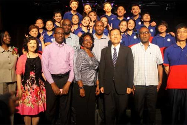 The youth Ambassadors with local dignitaries