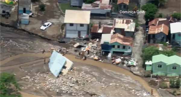 Several parts of Dominica were devastated by the storm.