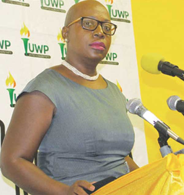 Image of Minister of Education, Innovation, Gender Relations and Sustainable Development, Gale Rigobert.