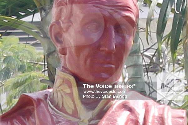 Image: A bust of Simon Bolivar.[PHOTO: Stan Bishop]