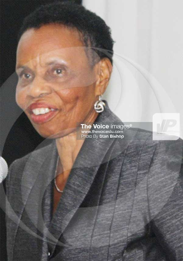 Image of Mary Juliana Charles, President of the Bar Association of Saint Lucia.[PHOTO: Stan Bishop]